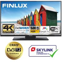 Finlux TV43FUF8260 - HDR UHD T2 SAT HBBTV WIFI SKYLINK LIVE - TENKÁ