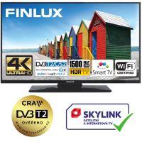 Finlux TV65FUF8260 - HDR UHD T2 SAT HBBTV WIFI SKYLINK LIVE