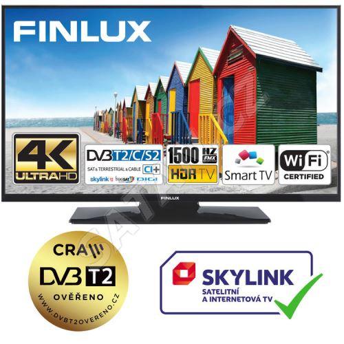 Finlux TV55FUF8260 - HDR UHD T2 SAT HBBTV WIFI SKYLINK LIVE - TENKÁ