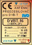 Zesilovač pro DVB-T/T2 21-60.k.16dB DVB-16