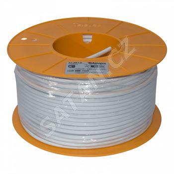 413911_ LSFH B2ca koax. kabel 6,9mm, šedý, PVC, vnitř. vodič 1,05mm Cu, opletení Cu, balení 250m