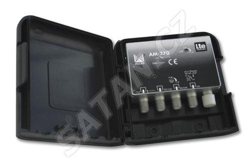 ALCAD AM-270_ zesilovač 2 vstupy, BIII/ DAB - UHF, LTE kompatibilní