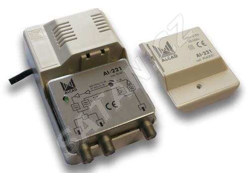 ALCAD AI-221 2 výstupy, (47-862), G=25 dB, zpětný kanál 0-30 MHz