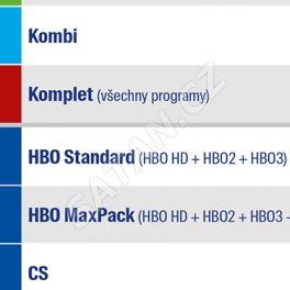 Aktivace balíčku HBO STANDARD na 12 měsíců