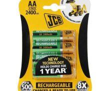 JCB baterie NiMH AA/R06, 2600mAh, blistr 4 ks