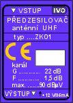 """ZK01-X.SZes.kanál.UHF/22dB""""2F"""" Solo 45k"""