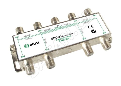 IKUSI UDU-813_ rozbočovač, 8 výst. 11,9 dB, DC pass