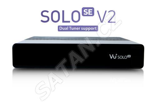Vu+ SOLO SE V2 černý (1x Dual tuner DVB-S2) Rozbaleno