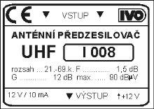 Předzesilovač I008HP-E 21.-60.k