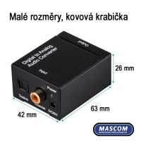 DAC 01-LT, Adaptér dig. audio na analog. sluchátka