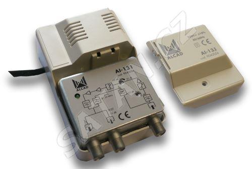 ALCAD AI-131 2 výstupy, (86-862), G=26 dB, zpětný kanál 0-30 MHz