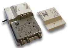ALCAD AI-133 2 výstupy, (86-862), G=26 dB, zpětný kanál 0-65 MHz