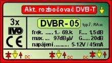 """Akt.rozb.pro DVB-T,3x výst.""""F"""" 20dB"""