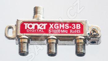 TONER XGHS-3B_ rozbočovač 1/3, 6.2 dB