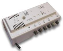 ALCAD AI-400_ zesilovač, 1vstup VHF/ UHF, 4 výstupy