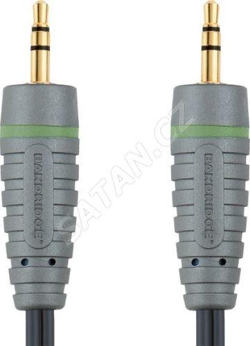 Bandridge audio kabel pro přenosná zařízení, 1m, BAL3301