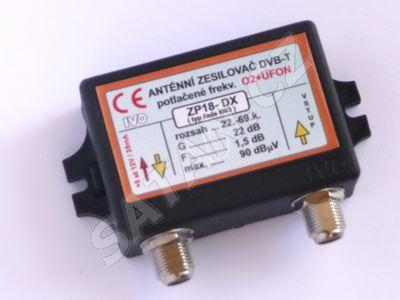 Zesilovač ZP18 -22dB odladění pro UFON+O2