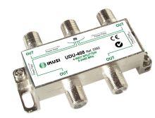 IKUSI UDU-408_ rozbočovač, 4 výst. 8,1 dB, DC pass