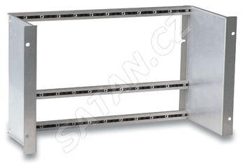 """ALCAD SP-725 držák s rámem pro montáž do 19"""" skříně pro 9 modulů série 905 nebo 912 a zdroj"""