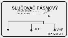 Slučovač pásmový I015-DF