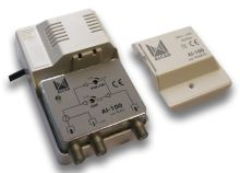 ALCAD AI-100 2 výst., (40-318, 470-862), G=14/3 dB (VHF) / 24/13 dB (UHF), reg.