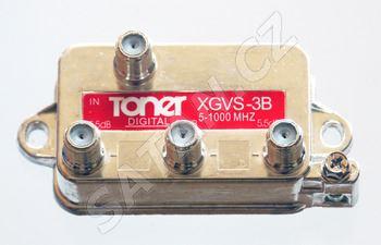 TONER XGVS-3B_ rozbočovač 1/3, 6.2 dB