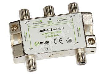 UDF-408_ rozbočovač, 4 výst. 8,1 dB, DC pass