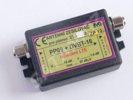 Zesilovač ZP19 DVB-T 16dB s potlač. LTE