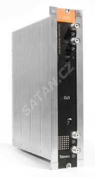 TELEVES 5575 T-0X, širokopásmový zesilovač G=45 dB, 120 dBµV (DIN 45004-B)