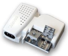 5605_ zesilovač Picokom, 2 výst, (47-400, 470-862 MHz), G=12 dB (VHF), 20 dB (UHF), AGC