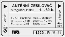 """Zes.1-69.k./24dB-R """"2F""""+Zdroj BAL"""