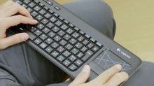 Klávesnice Logitech Wireless Touch Keyboard K400 CZ, bezdrátová, unifying přijímač, USB