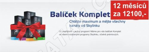 Aktivace balíčku KOMPLET na 12 měsíců