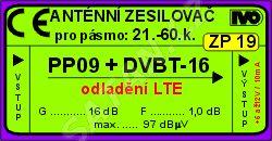 Zes.DVB-T/T2 16db s potlač.LTE venk PP09