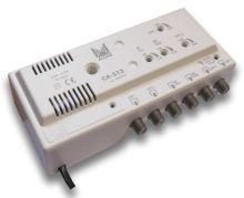 ALCAD CA-312 4 vstupy UHF-UHF-BIII-BI/FM, 2 výstupy, G=30/20 dB, reg., .