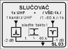 Slučovač SL03 + 60.k