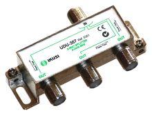 IKUSI UDU-307_ rozbočovač, 3 výst. 6,8 dB, DC pass