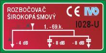 Rozbočovač hybridní I028U 3 výstupy - IEC konektory