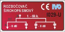 Rozbočovač hybridní I029U 4 výstupy - IEC konektory
