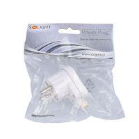 Solight zástrčka lomená, IP20, bílá