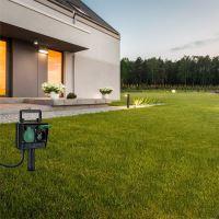 Solight zahradní sloupek IP44, 2 zásuvky, gumový kabel 1,5m
