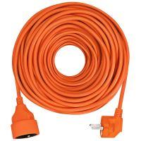 Solight prodlužovací přívod - spojka, 1 zásuvka, 20m, 3 x 1,5mm2, oranžová