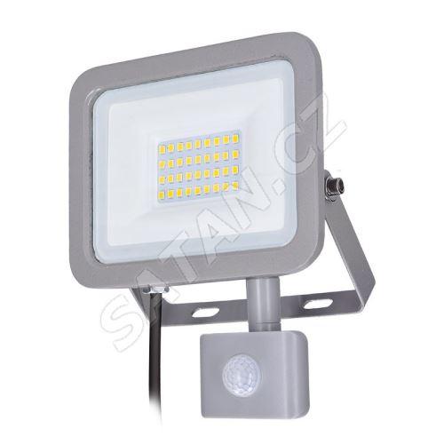 Solight LED reflektor Home se sensorem, 30W, 2250lm, 4000K, IP44, šedý